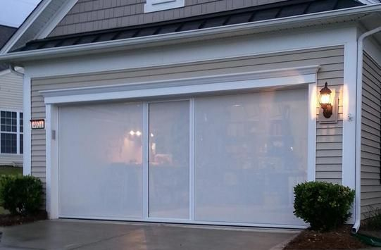 Bug Proofed The Hobby Garage Six Doors From Menards Each Cost Fifteen Dollars Total Project With Hinge Diy Garage Door Garage Screen Door Garage Renovation