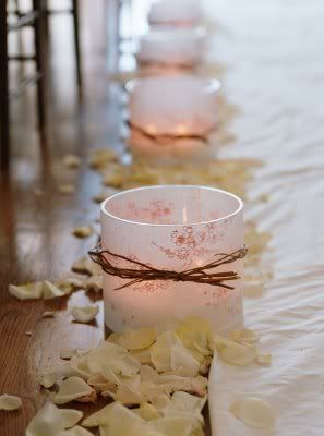 Center pieces - cherry blossom. Maybe along the table for the bridal party