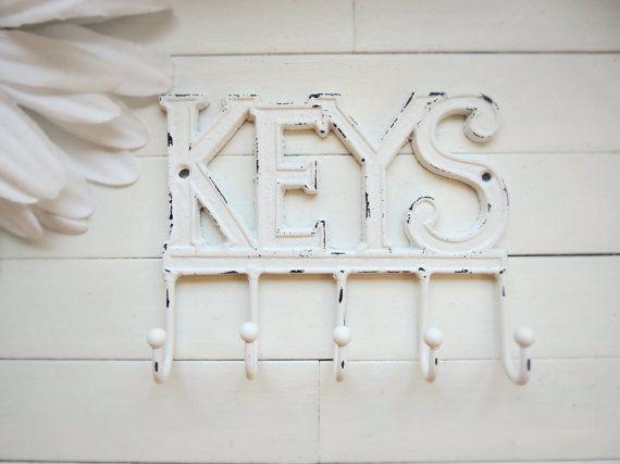 Key Rack / Car key Hook / Cast Iron Key Hook / Vintage Key Rail / Wall Decor Key Hook Holder / Decorative Key Hook / Key Rail Key Hook