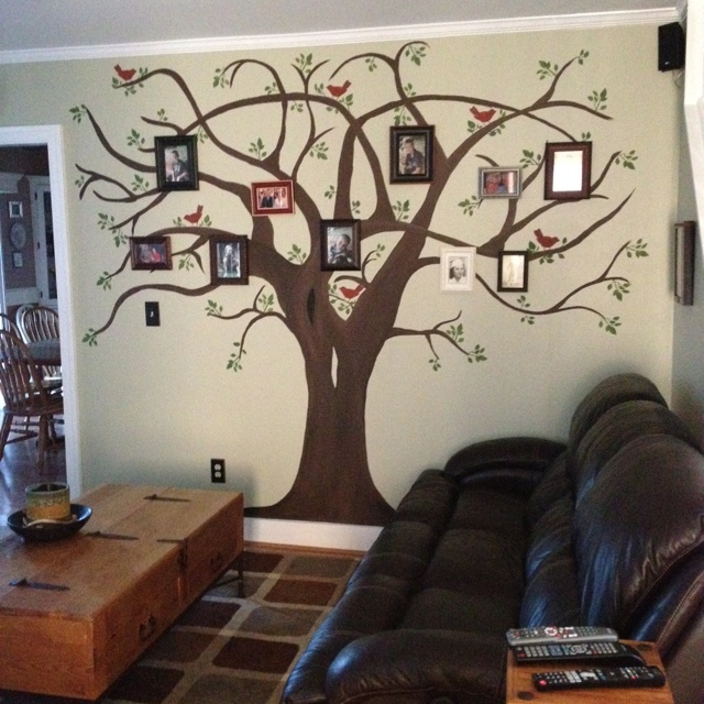 This is my family tree in my wall that I painted