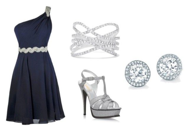 """Elegant"" by juanaguzman on Polyvore featuring Yves Saint Laurent and Effy Jewelry"