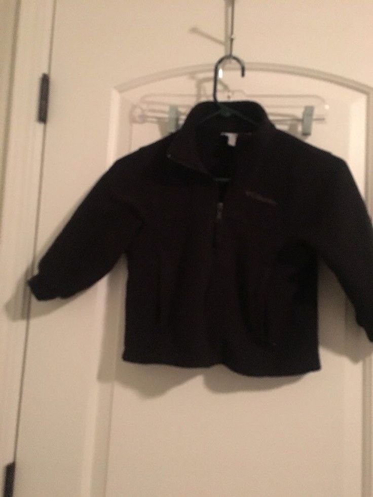 Columbia SportsWear Company Kids Fleece Jacket Coat Sz 4/5 Black Clothes #Columbia #FleeceJacket