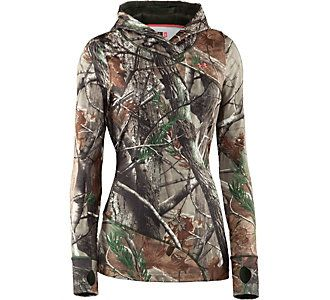 For women who like guns | Under Armour® Women's ColdGear® Evo Scent Control Hoody #scheels