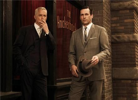 Roger Sterling and Donald Draper, Mad Men.