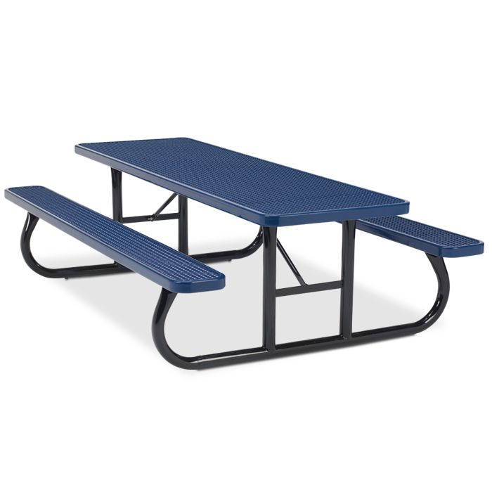42 best plastisol coated metal picnic tables images on pinterest 8 rectangular expanded steel table portable frame picnic tables upbeat watchthetrailerfo