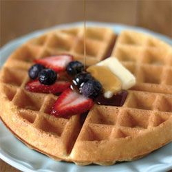 Belgian Waffles. I'll definitely have to try this recipe now that I'm the proud owner of a brand new waffle iron!