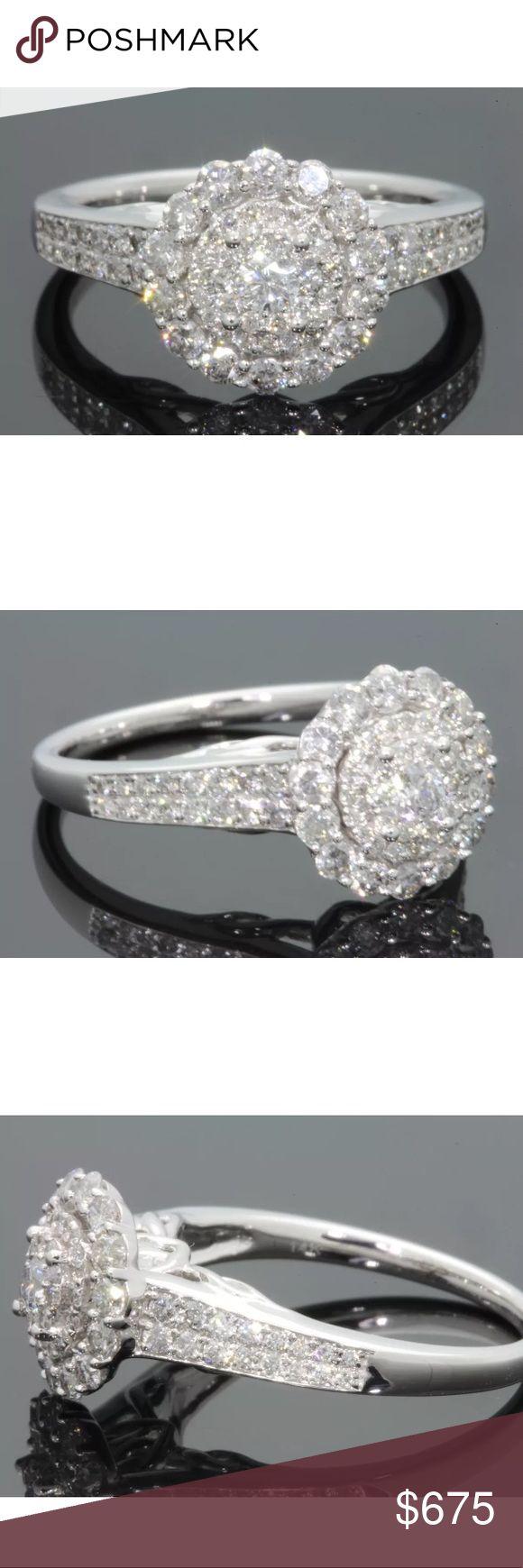 1.20 carat 14k white gold diamond ring 1.20 carat 14k white gold diamond ring! Beautiful round H-I color/SI2 clarity diamonds! Retail $2000! Lower on pal! Jewelry Rings