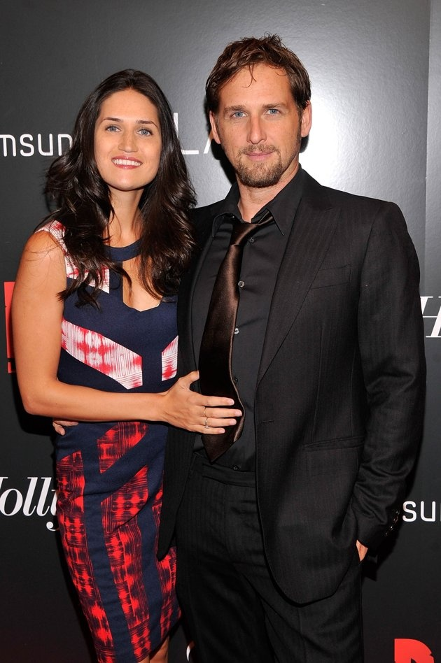 "Josh Lucas and wife Jessica at Screening Of ""Django Unchained"""