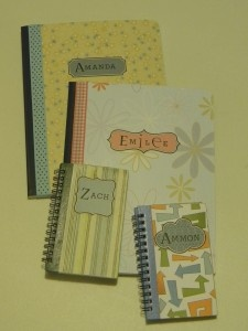 make your own decorative paper covered notebooks