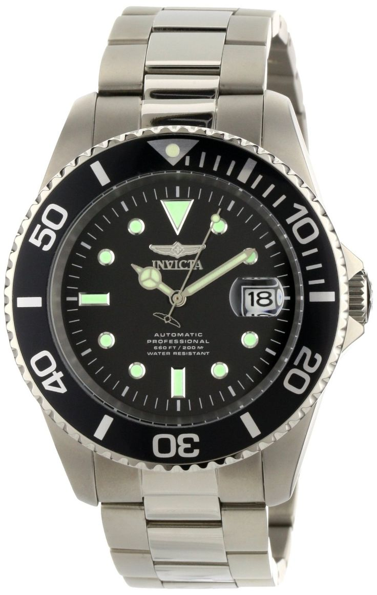 Invicta Men's 0420 Pro Diver Automatic Black Dial Titanium Watch. Save a HUGE Amount of money with this deal -- See it here: http://lifesabargain.net/invicta-mens-diver-titanium-watch/