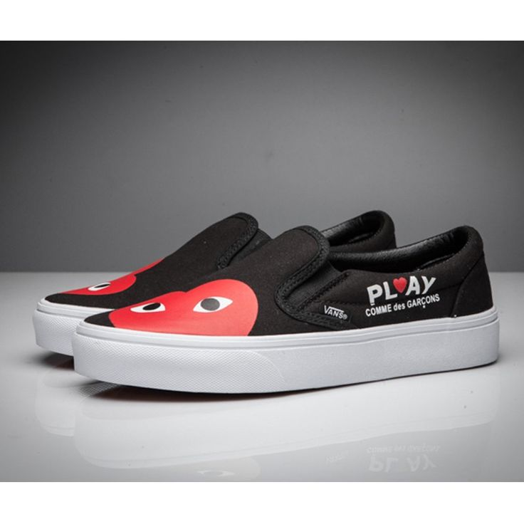 Vans x Comme des Garcons Play Slip-On Shoes Black | Slip on shoes ...