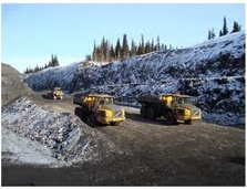 Duz Cho Construction builds roads for logging and mining interests, remote site construction