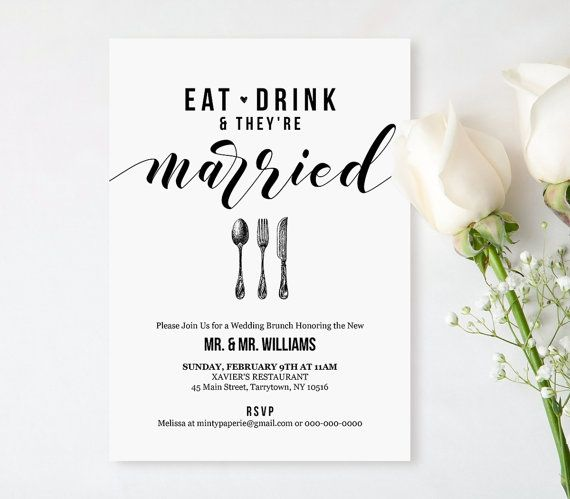 34 best Wedding Invitations by MP images on Pinterest Wedding - lunch invitation templates