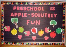 apple bulletin board ideas | Preschool Is Apple-Solutely Fun
