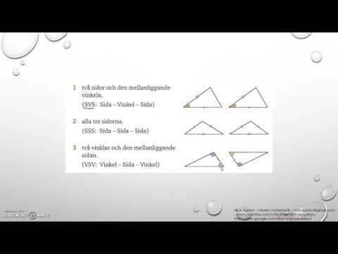 Genomgång av Matematik 5000 Ma 2b   Kapitel 3   Geometri   Kongruens