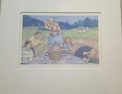 In the Roughage Signed Numbered Watercolor Art Print Jonathan Heath Golf Humor