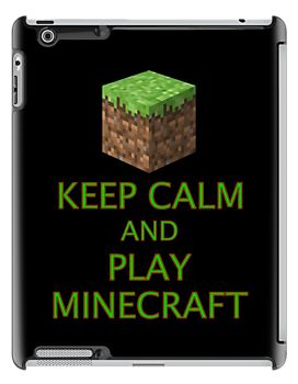 KEEP CALM AND PLAY MINECRAFT by Chillee Wilson from Customize My Minifig by ChilleeW
