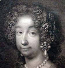 """24- Marie-Anne de Bavière (détail) d'Antoine Masson. - MARIE ANNE DE BAVIERE: Elle s'en affligea quand elle vit le mal sans remède, et s'en prit mal à propos à madame la princesse de Conti. Son aigreur pour elle, et les plaintes qu'elle en fit souvent à Monseigneur, ne produisirent que de mauvais effets. Si nos princes sont doux, ils sont opiniâtres; et s'ils échappent une fois, leur fuite est sans retour. Madame de Maintenon l'avait prévu, et en avait averti inutilement la dauphine""""."""