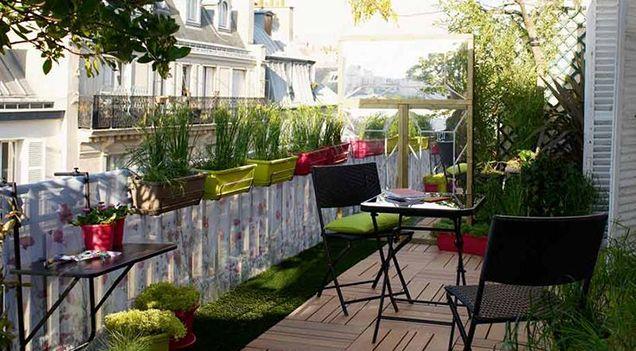 comment am nager son balcon pour le printemps terrasse pinterest balcons les printemps. Black Bedroom Furniture Sets. Home Design Ideas