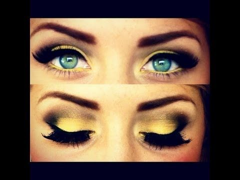 Summer Yellow Eyes Makeup Tutorial