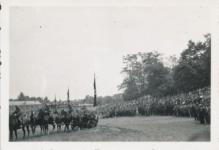 Wwii #german soldier's photo large artillery #review with #banners &flags,  View more on the LINK: http://www.zeppy.io/product/gb/2/391628461106/