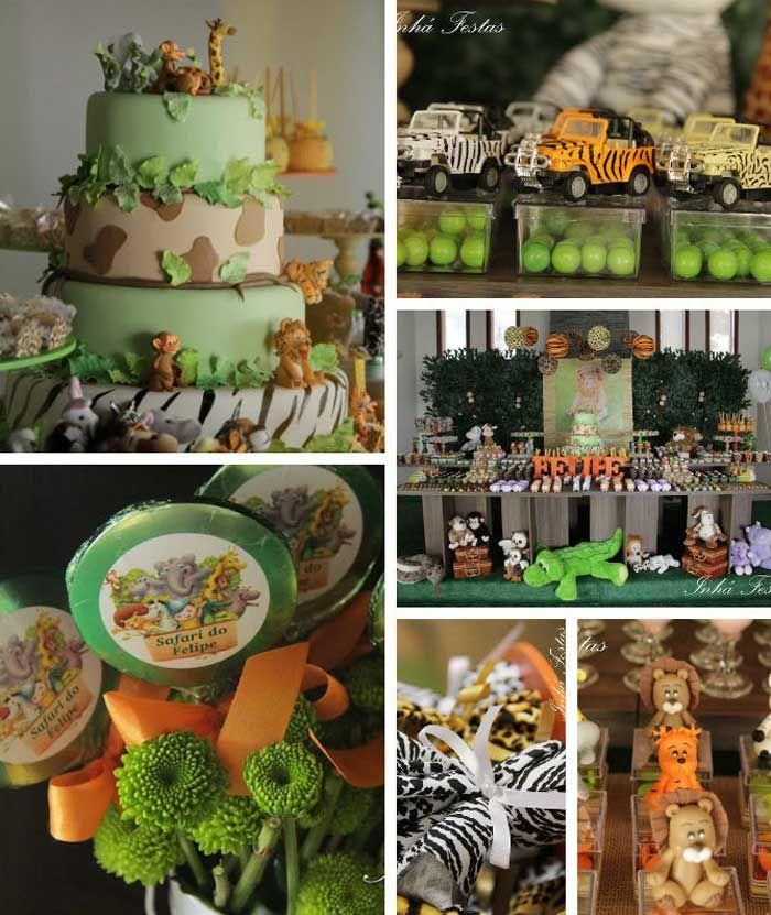 Safari Themed Birthday Party with So Many Cute Ideas via Kara's Party Ideas KarasPartyIdeas.com