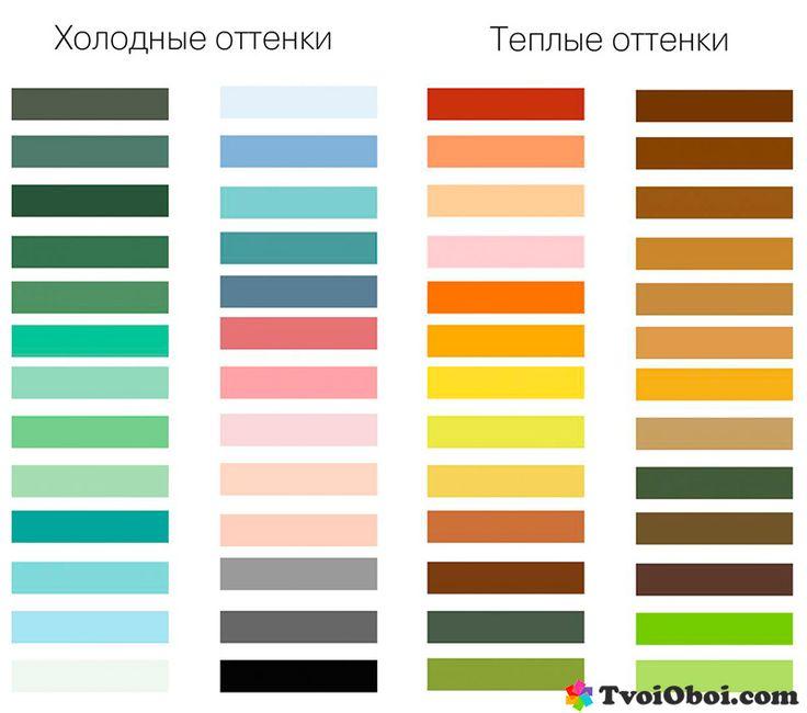 Теплые и холодные цвета