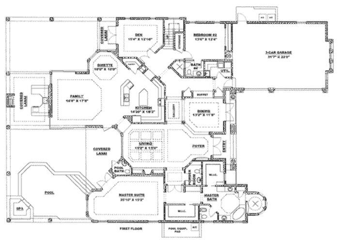 Houseplans.com Main Floor Plan Plan #27-212