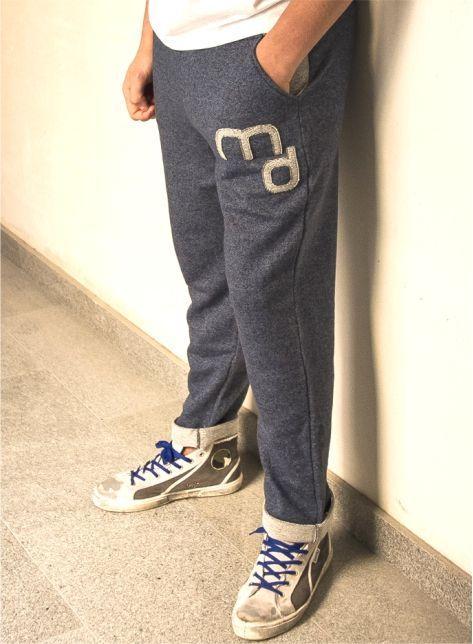 MD83118 Pantalone Lungo 100% COTONE COLORE BLU LOGO E TASCHE A CONTRASTO  www.marquisandoge.com  #pantalone #marquisandoge #mand #jumwithus #jump #md #cotone #felpa #slim #skinny