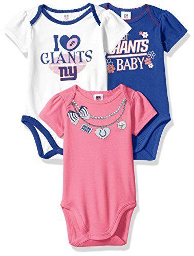 6d5b3e5a7 NFL New York Giants Girls Short Sleeve Bodysuit (3 Pack)