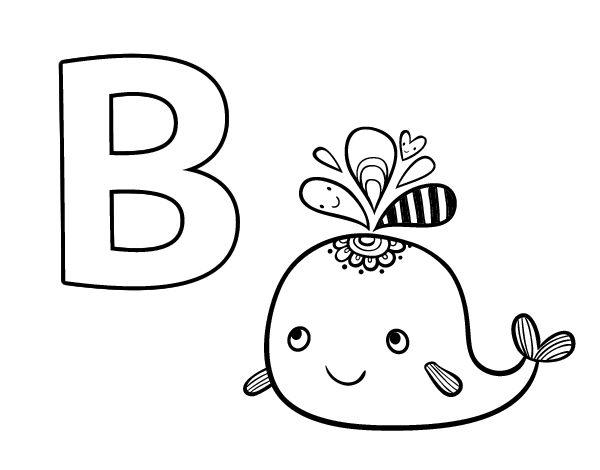 Dibujo del Abecedario - Letra B para colorear | Dibujos del ...