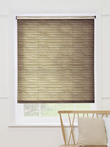 Ruffle Neutral Roller Blind from Blinds 2go