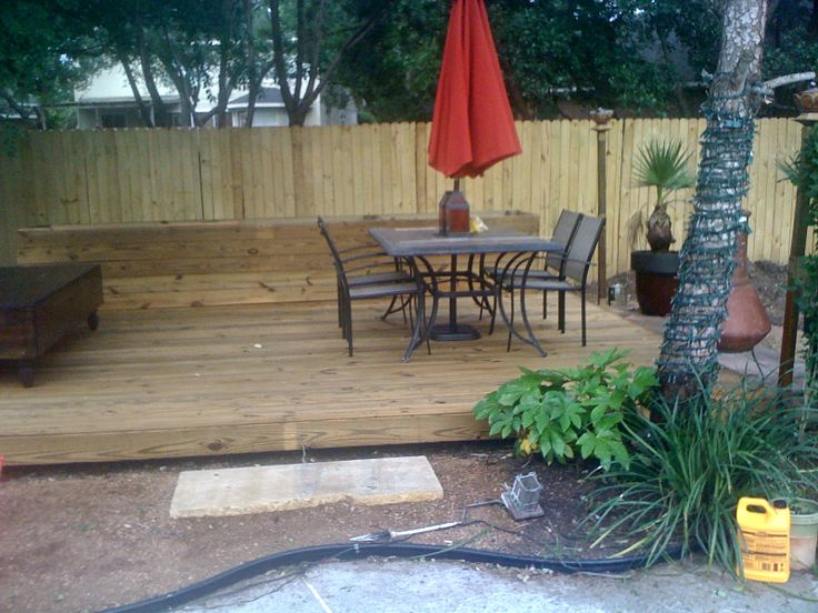 Took Down The Storage Shed And Built A Floating Deck With