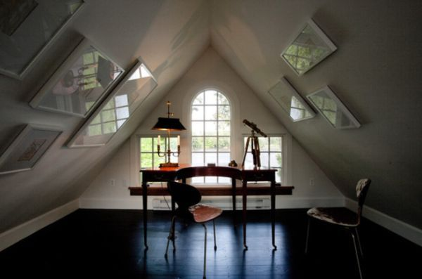 30 Cozy Attic Home Office Design Ideas Sloped Ceiling
