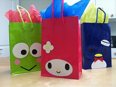 Keroppi, My Melody & Tuxedo Sam Make your own gift bags