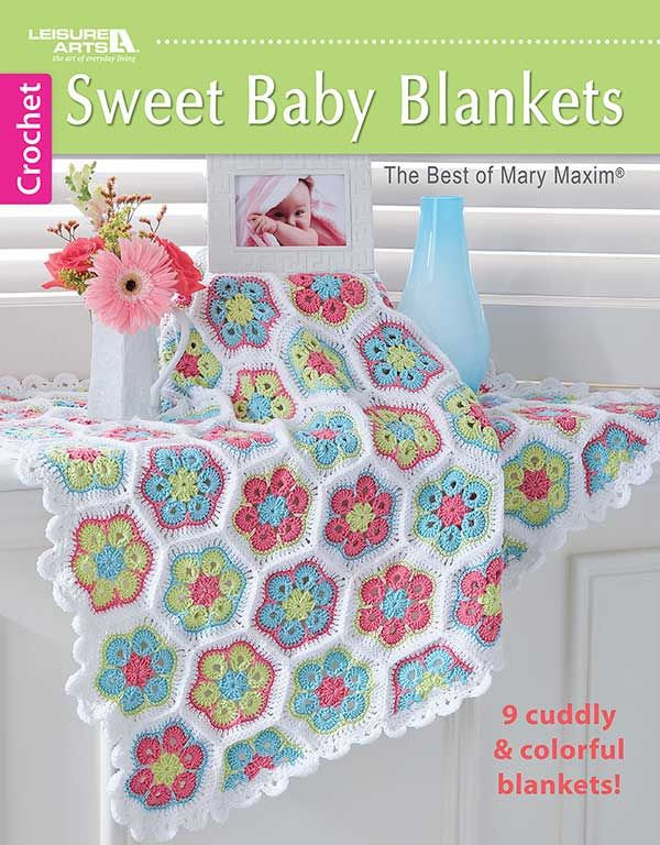 Crochet Colorful Baby Blankets to Brighten a Baby's Nursery