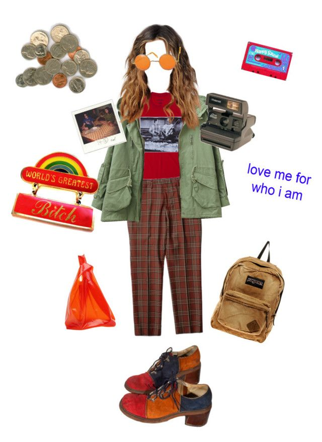 """You are important"" by alklncirem on Polyvore featuring moda, Jil Sander, Polaroid, JanSport ve CASSETTE"