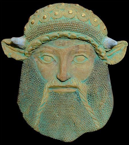 Etruscan mask