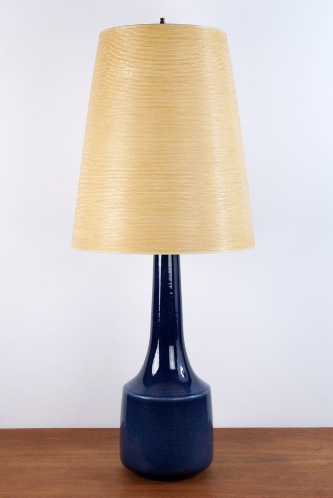 Mid Century Danish Modern Tall Ceramic Lotte Bostlund Table Lamp