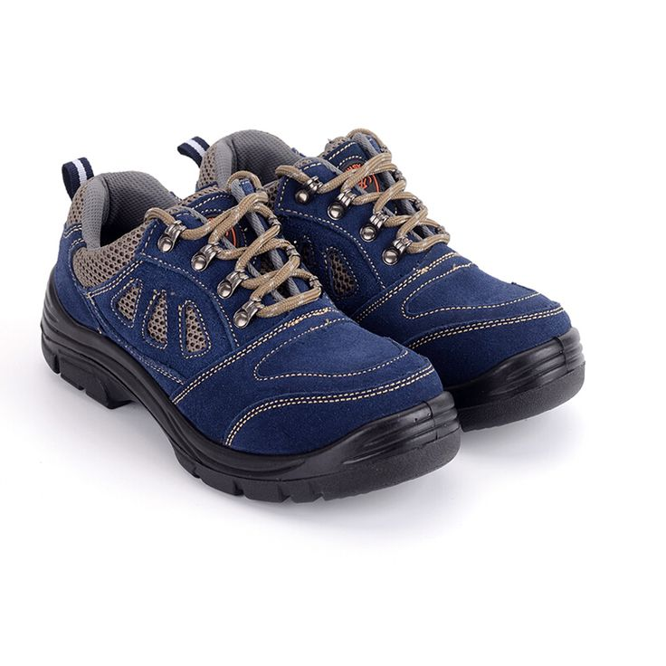 big size men breathable mesh steel toe cap work safety summer shoes lace up outdoor low tooling leather boots protective zapatos