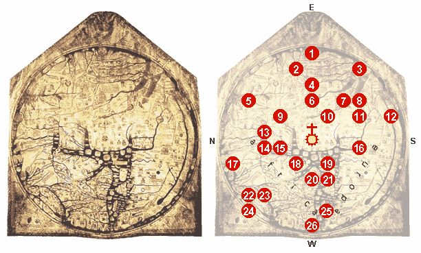 The Hereford Mappa Mundi is the largest intact... - Medium Aevum