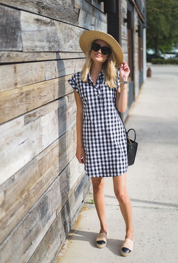 Browse 20 picture-perfect picnic outfit ideas at @stylecaster | @lilblondebook blogger in gingham dress, straw hat