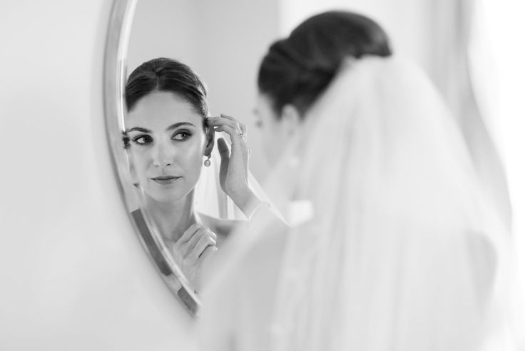 Bride getting ready in Budapest, Hungary