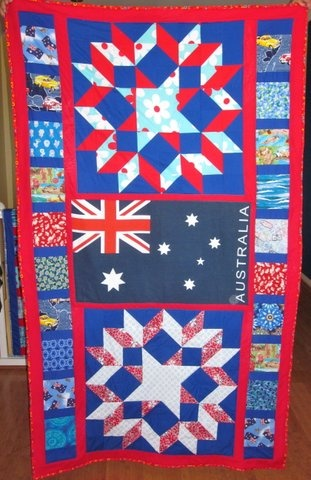 My 6th quilt for Aussie Hero Quilts (and laundry bags)