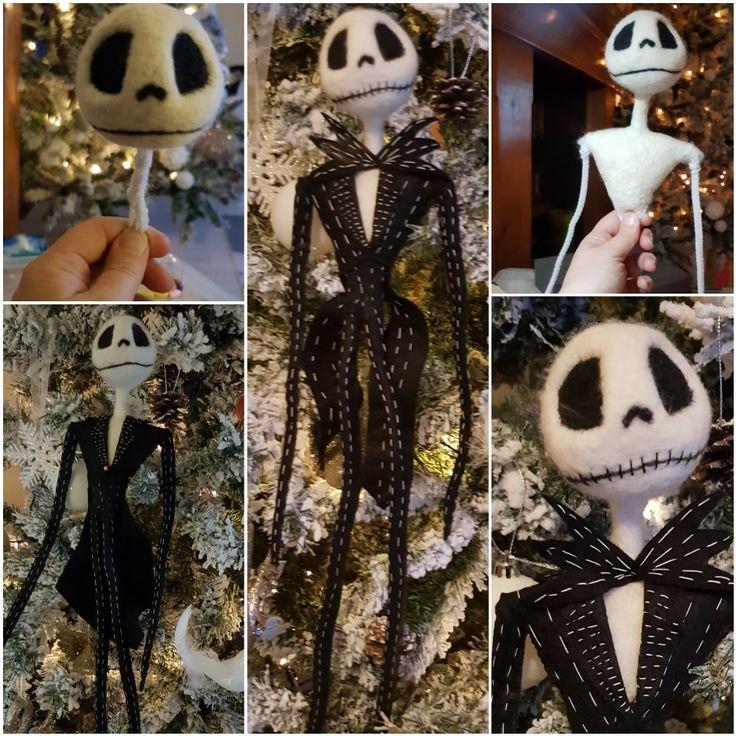 Jack skeleton. Needle Felt