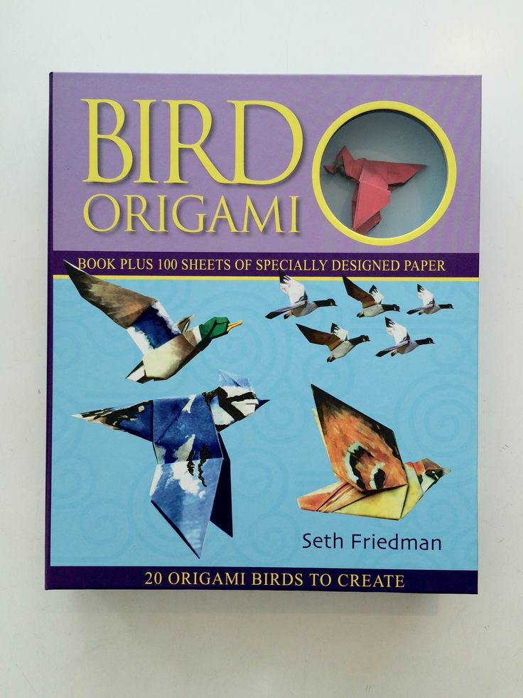 Get crafty! // Test yourself with these beautiful origami birds // includes origami paper and instruction book