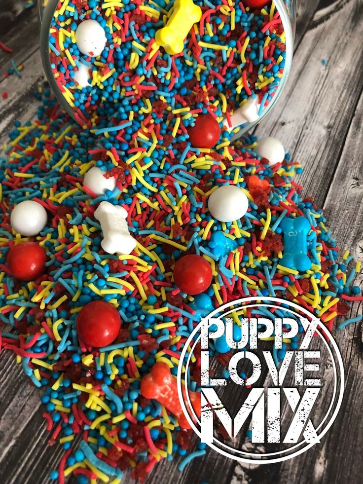 A personal favourite from my Etsy shop https://www.etsy.com/au/listing/583350473/puppy-love-sprinkles-colorful-beautiful