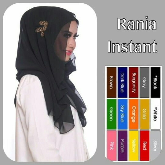 One loop style Rania Instant Material from Chiffon Cerutti with pretty sewed in accessories. Suitable for daily or semi formal occasions.   Buy more, save more! Open PO, 1 for $18, 2 for $35, 3 for $50! Normal postage included.  Buy one today in time for Eid. Pls PM for more info or order, tq!  #hijab #muslimah #tudung #shawl #singaporehijab