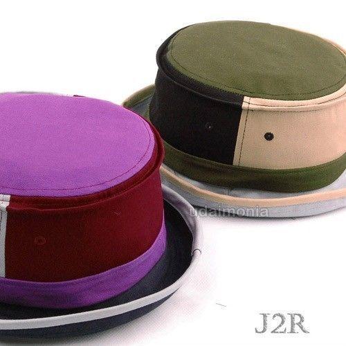 Cotton Pork Pie Hat Mens Womens Multi Color Porkpie Fedora Hats Size Adjustable