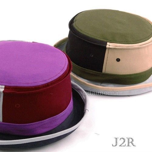 Cotton Pork Pie Hat Mens Womens Multi Color Porkpie Fedora Hats Size Adjustable
